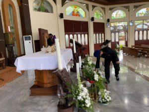 Amankan Malam Peribadatan Umat Kristiani Gegana Lampung Terjunkan Jibom