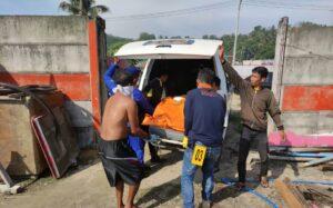 Sesosok Mayat Terapung  Di Perairan Laut Mutun  Gegerkan  Warga Dusun Mutun Desa Lempasing