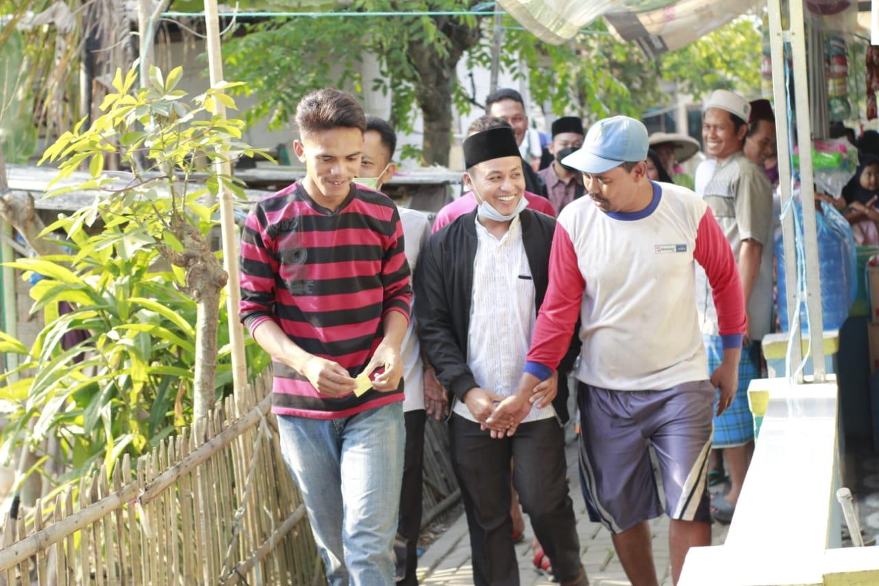 Bakal Calon Kepala Desa Klutuk H. Khudari lakukan silaturahmi ke warga
